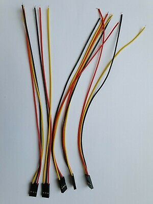 Breadboard Jumper Wires 3-Pin 20cm Female to Tined Tip Cable for Arduino
