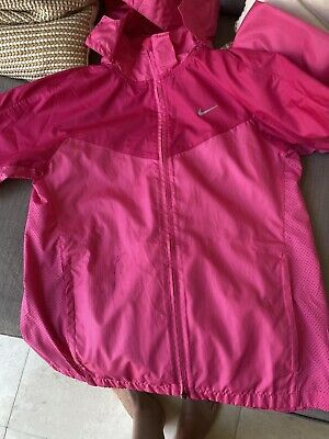 Girls Pink Nike Lightweight Waterproof Jacket Age 12-13 Years