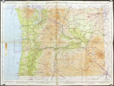 COLUMBIA RIVER / AERONAUTICAL CHART / Columbia River 269 1948 Eighth Edition.