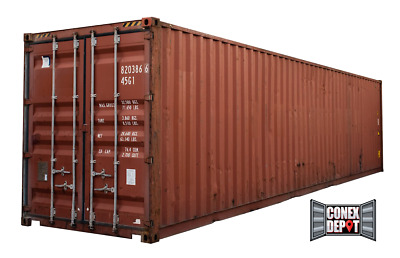 40FT High Cube Used WWT Shipping Container For Sale in Charleston, SC We Deliver