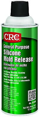 CRC 03300 Silicone Mold Release Spray Aerosol Can Multipurpose Non Staining 12Oz