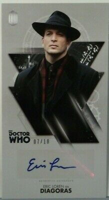 2016 Topps Doctor Who Widevision Eric Loren Silver Foil Autograph 7/10