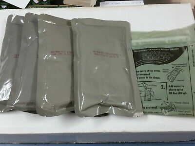 4 MILITARY MRE NEW INDIVUAL MRE MEALS READY TO EAT Sante Fe Style With Beans