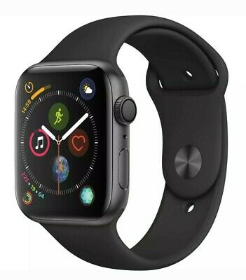 Apple Watch Series 5 44mm Space Gray Aluminum Black Band GPS ONLY