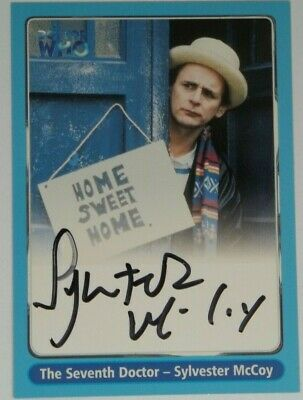 2000 Doctor Who Strictly Ink Definitive 1 Sylvester McCoy Autograph A4
