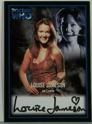 2001 Doctor Who Strictly Ink Definitive 2 Louise Jamison Autograph AU7