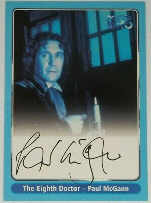 2000 Doctor Who Strictly Ink Definitive 1 Paul McGann Autograph A5