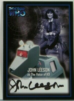 2001 Doctor Who Strictly Ink Definitive 2 John Leeson Autograph AU9