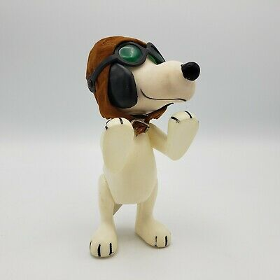 Rare 1966 Snoopy The Pilot Figure Toy United Feature Syndicate w/ Hat & Goggles