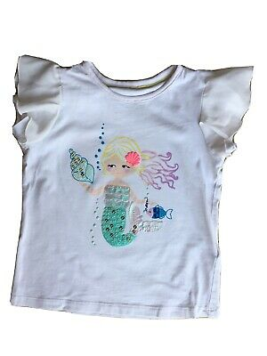 Marks & Spencer M&S Girls White Mermaid Summer Top 🦄 2-3 Years