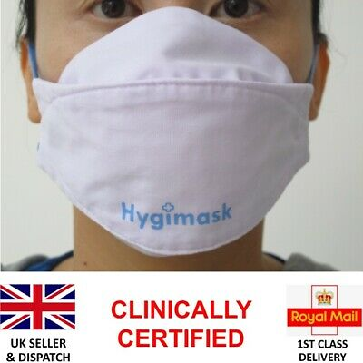 Reusable Face Mask - New Nano Silver Coated Antimicrobial Fabric -Test Certified