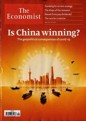 THE ECONOMIST MAGAZINE ISSUE 18th APRIL 2020 ~ NEW ~