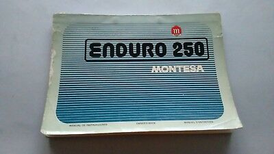 Montesa ENDURO 250 '74 manuale uso+catalogo ricambi originale owner parts manual