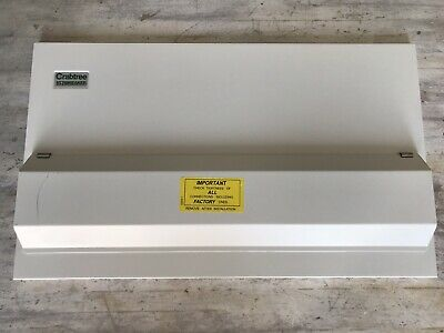 Crabtree Wylex Starbreaker Loadstar Consumer Unit Cover Metal Board Scratched