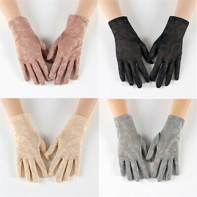 Summer Women Protection  Lace Gloves Wrist Glove Ladies Soft Sunscreen Gloves