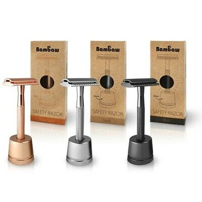 Bambaw Metal Safety Razor with Stand