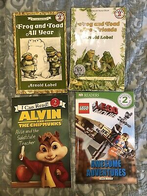 Lot of 4 Level 2~RL~Ready to-I Can Read-Step into Reading-Learn Read Books MIX