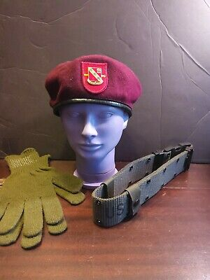 u.s. military hat gloves and belt 319th artillery rare