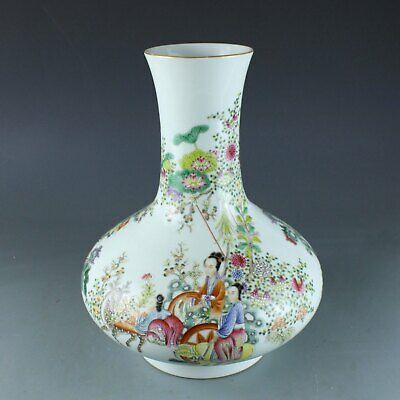 Chinese Exquisite Handmade character porcelain vase