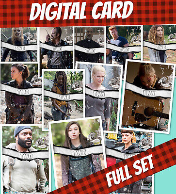 Topps Card Trader Twd The Walking Full Set  Standard Torn 12 Cards Wave 1 2020