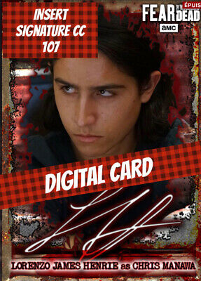 Topps Card Trader Ftwd Fear The Walking Dead Chris Manawa Signature 2020