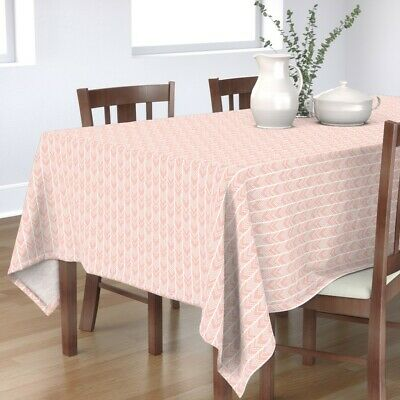 Tablecloth Blush Pink Pale Pink Chevron Herringbone Light Pink Cotton Sateen
