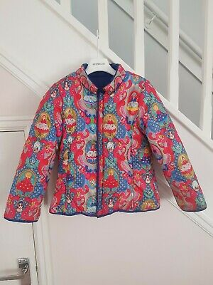 OILILY Designer Girls Reversible Coat Age 5 RRP £158.00