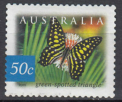 Australien Briefmarke gestempelt 50c Green spotted triangle Schmetterling / 385