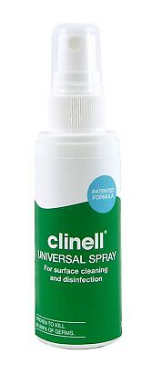 Clinell Disinfectant antibacterial Surface Sanitising Spray 60ml 70% alcohol