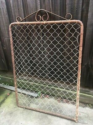 Vintage Antique Iron GATE, Tube Frame, Wrought, Wire Mesh - Rustic, Home, Farm..