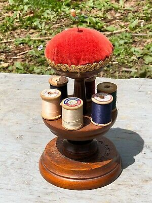 Antique Wooden Sewing Thread Spool Holder—Patented 1871