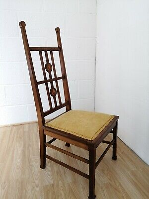 Arts and Crafts Mahogany Bedroom Chair after JS Henry c.1900