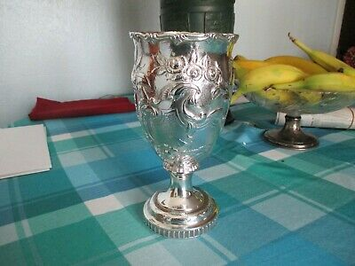 Antique Coin Silver Chalice  Cup. Manufacturer G And H