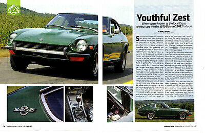 1970 Datsun 240Z ~ Nice 4-Page Article / Ad