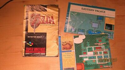 The Legend of Zelda a Link to the Past Nintendo SNES Instruction Manual + Map