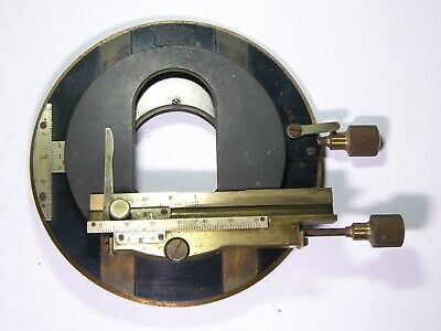 Microscope part: Carl Zeiss Nr.3698 Table / Stage. ANTIQUE BRASS Vintage, AS IS