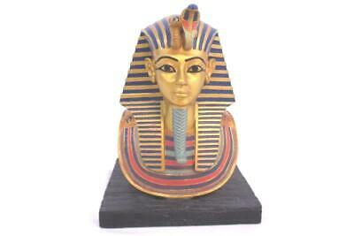 Ancient Egyptian King Tut Pharaoh Tutankhamun Head Mask Bust 6in Figurine