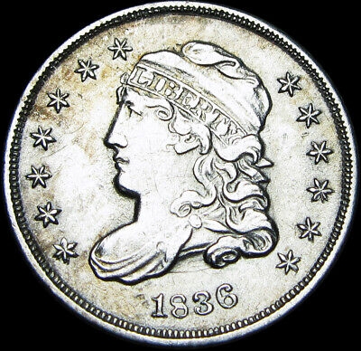 1836 Capped Bust Half Dime Silver Type Coin --- STUNNING ---- #Z779