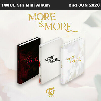 TWICE MORE&MORE 9th Mini Album Random Ver CD+Photobook+Photocard+Etc+Tracking Nu