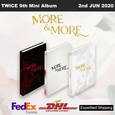 TWICE MORE&MORE 9th Mini Album 3SET Ver CD+Photobook+Photocard+Etc+Express Ship