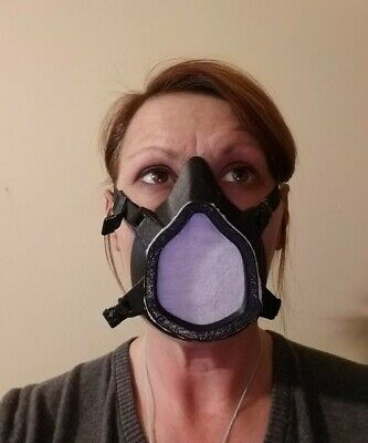 3D Printed Premium Respirator Mask | Rubber Padding | Replaceable Filters