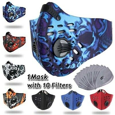 Cycling Outdoor Carbon Air Purifying Protective Mouth Face Cover  with 10 Filter