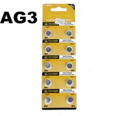 10X Alkaline AG3 LR41 392 SR41 192 1.5V Button Coin Cells Watch Battery Sturdy