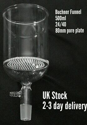 Buchner funnel Borosilicate glass vacuum funnel flask 500ml 24/40 80mm plate