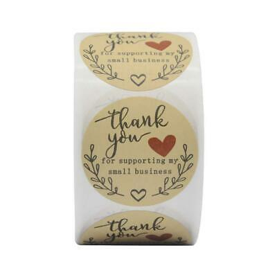 X500 New Craft Thank You Stickers For Your Purchase Business Labels Round Heart