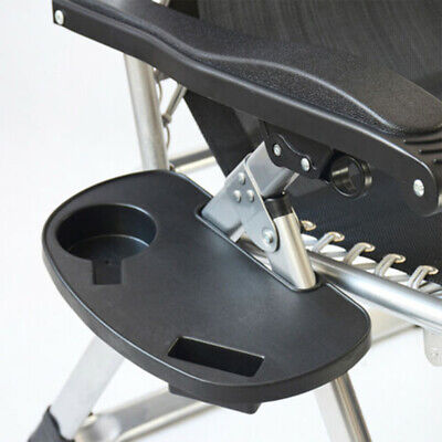 Portable Gravity Folding Lounge Beach/Chairs Outdoor Camping Recliner Tray Tools