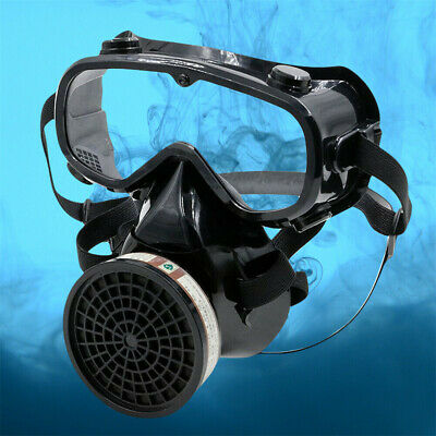 Full Face Gas Cover Goggle Painting Pesticide Spraying Filter Facepiece Cover