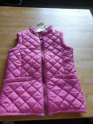 Girls Joules pink gilet age 6y