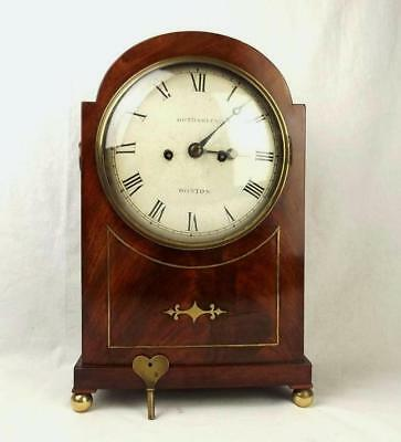 Oak & Mahogany Bothamley Boston Mantle Clock