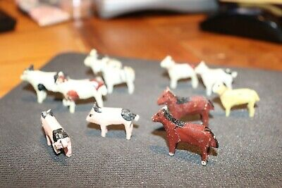 Vintage Folk Art Wooden Small Animal Carvings